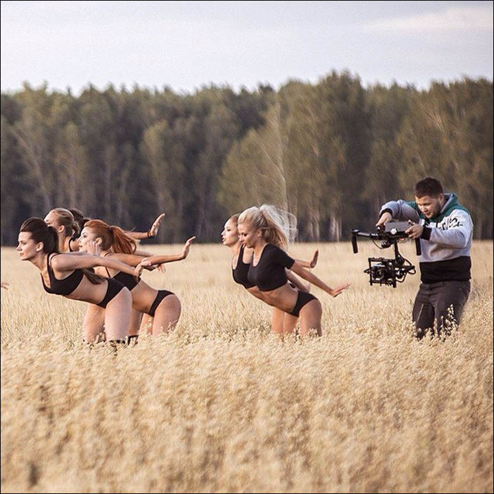 Shooting the video