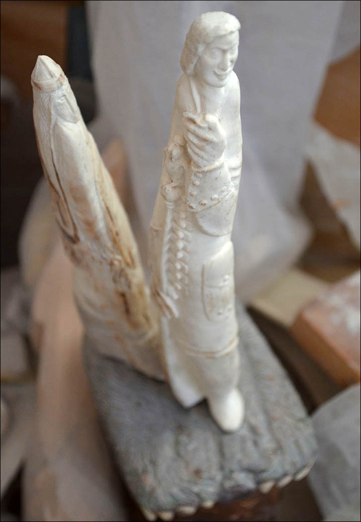 Exotic ivory carving from Siberia, giving new life to old legends