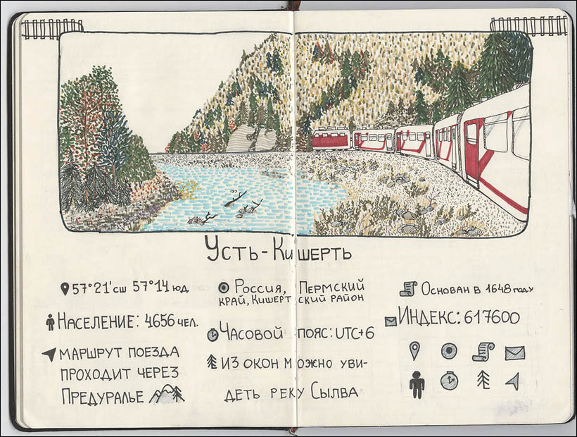 Trans-Siberian sketchbook