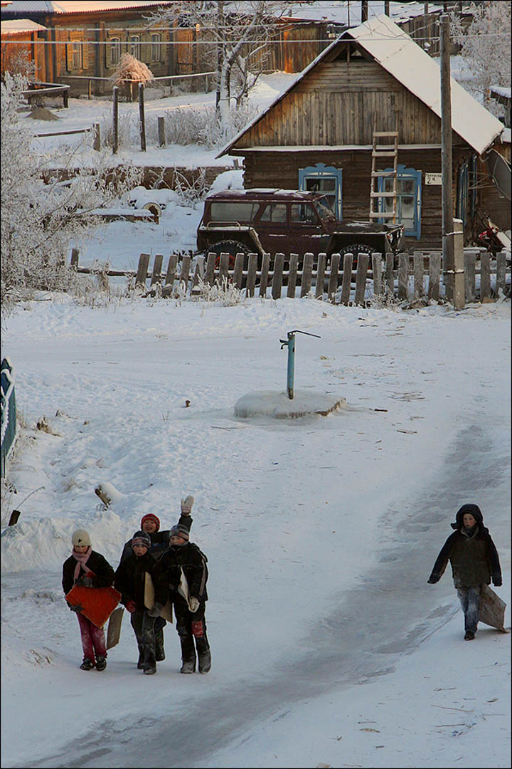 the best place for children to grow in small town in the heart of Siberia
