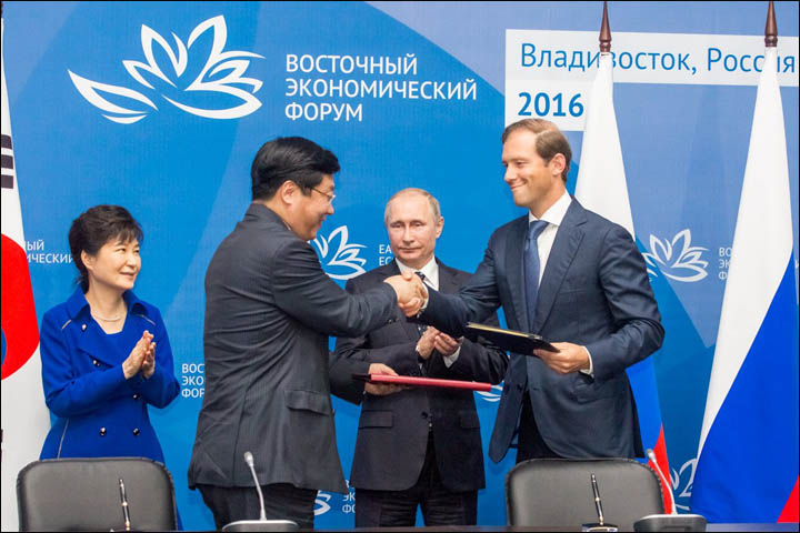 Russia and South Korea signed memorandums