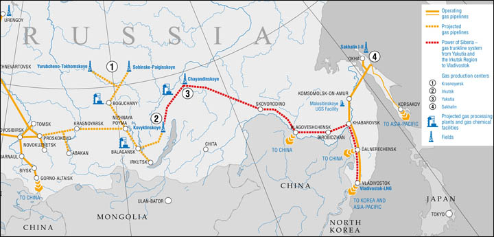 Project of gas pipeline Power of Siberia