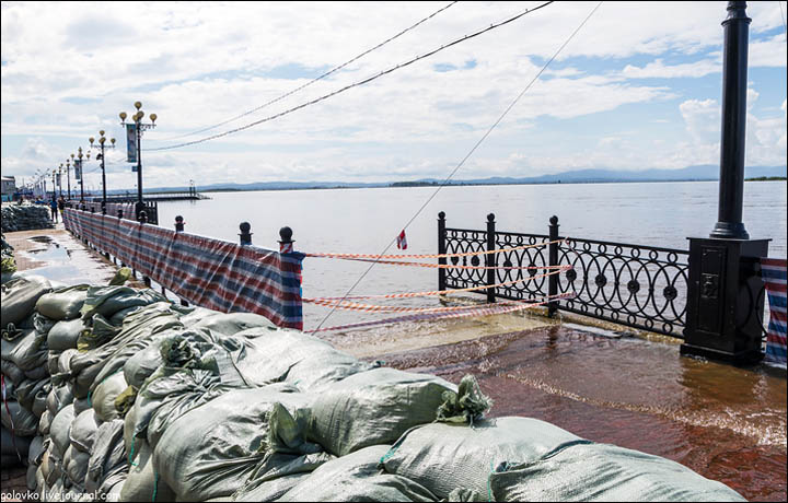 Flooding 2013 the Far East of Russia