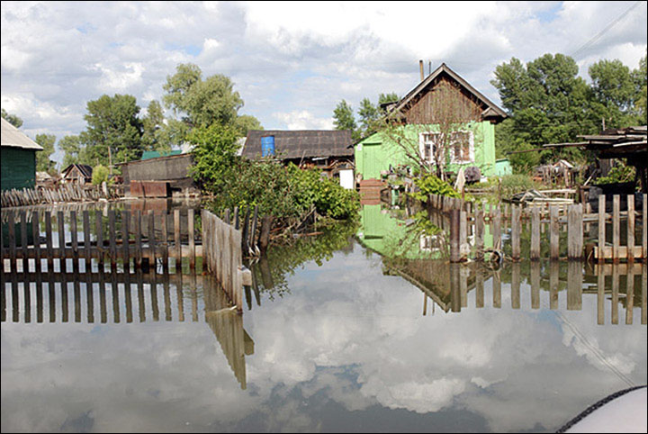 Flooding in Altai in 2014