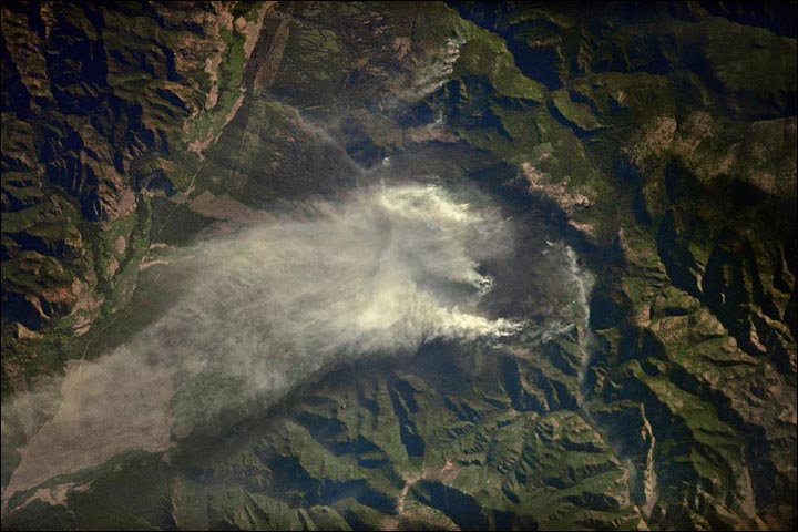 Wildfires seen from space