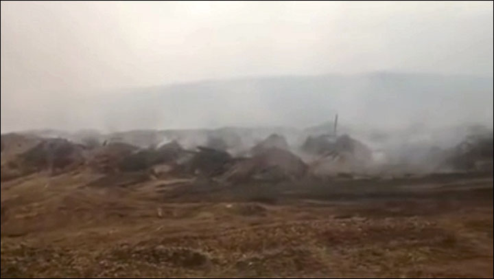 World's largest sawdust dump is on fire 'and will burn for years'