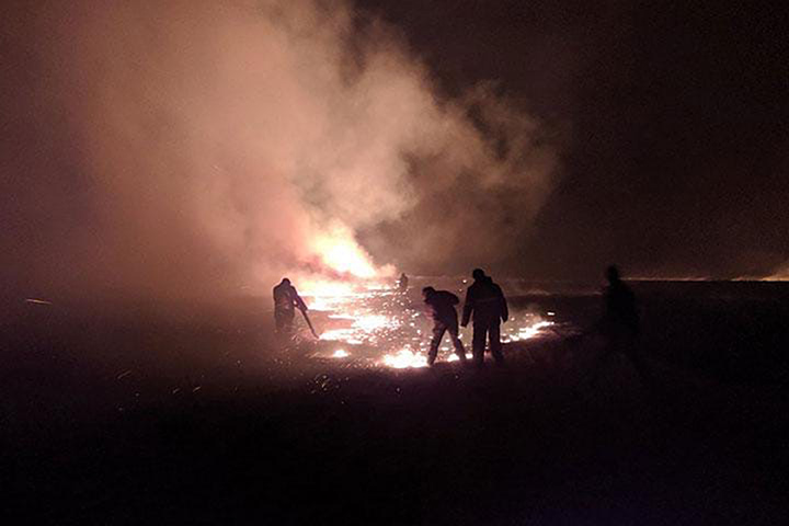 Wildfire in Khakassia