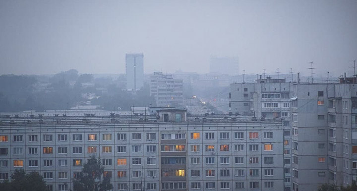 Smoke in Kemerovo