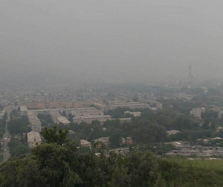 Smoke in Krasnoyarsk