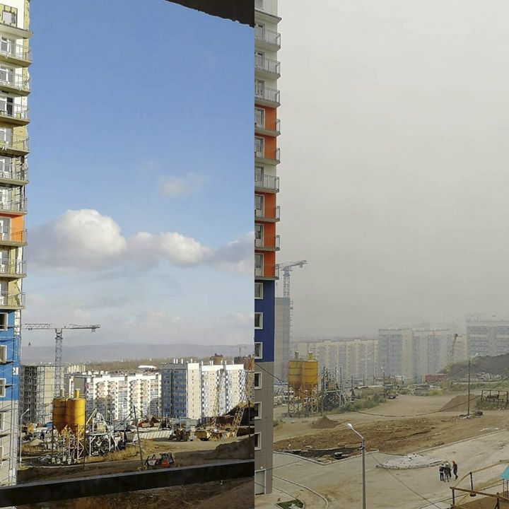 Smoke in Krasnoyarsk