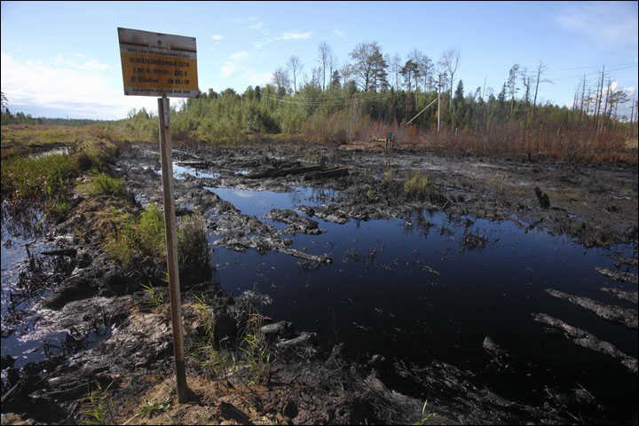 Oil spills in Siberia
