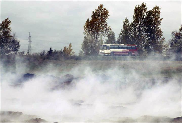 Peat fires in Buryatia