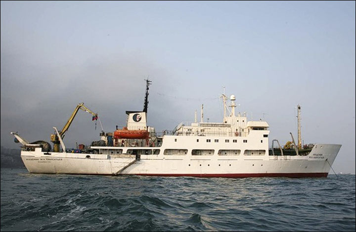 research vessel 'Academic M.A. Lavrentyev'