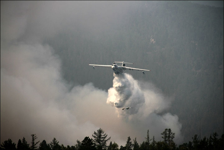 Wildfires on Baikal