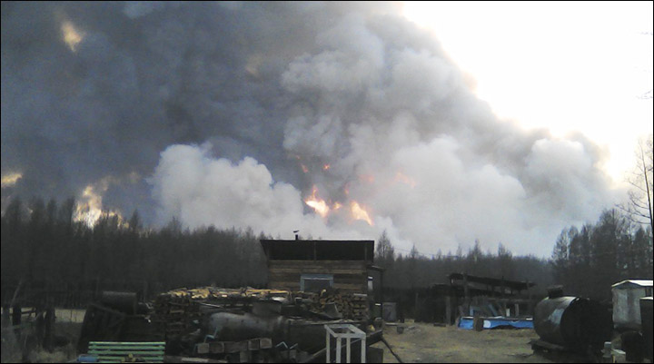 Wildfires in Buryatia