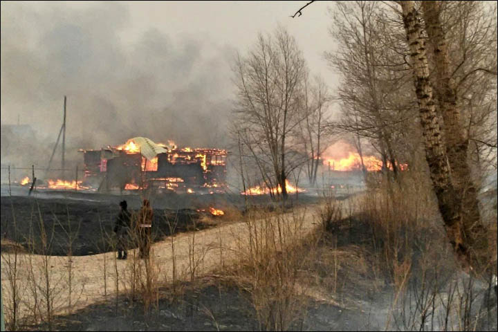 Wildfires in Khakassia
