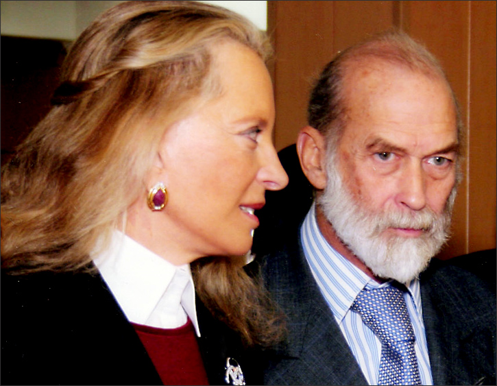 Princess Michael of Kent, left, Prince Michael of Kent