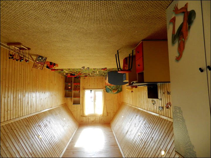 Children room in upside down house in Omsk