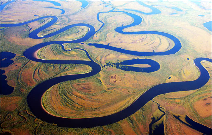 Aerial view of Yakutia