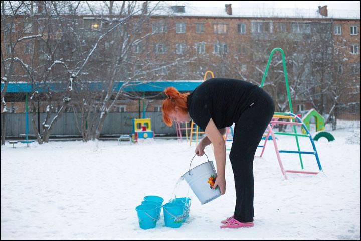 Ice babies Siberia