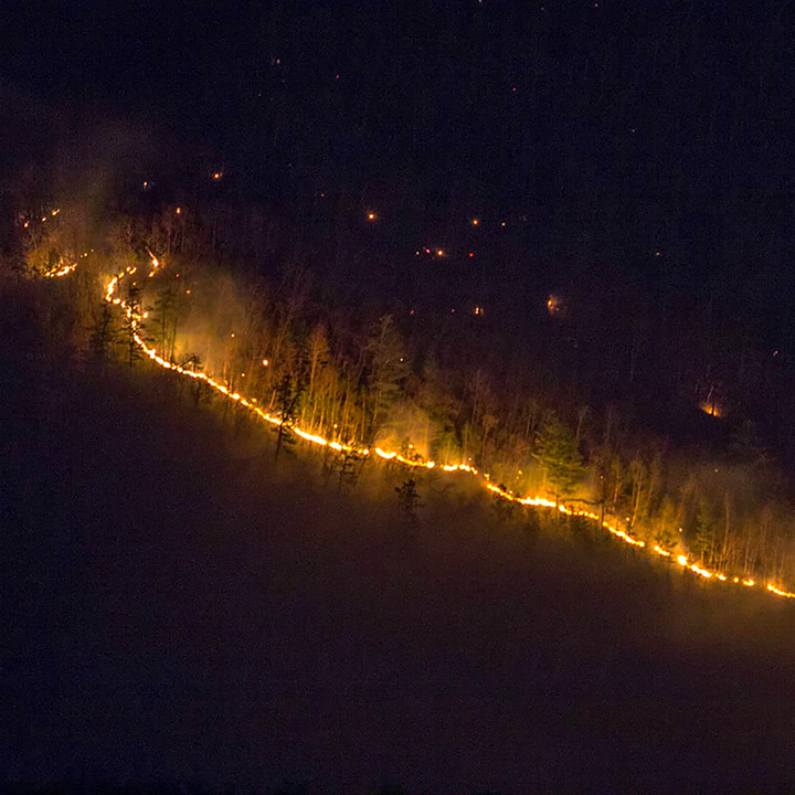 Armageddon as wildfires ignite forest around  Komsomolsk-on-Amur