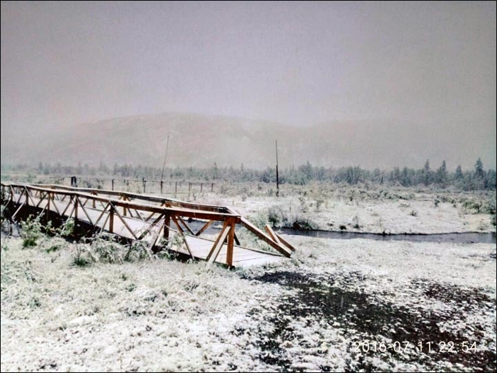 July snow in Yakutia
