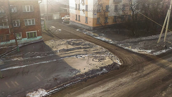 Eerie black snow falls over Siberian region triggering acute pollution concerns from locals