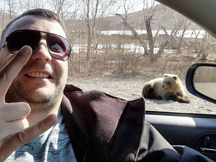 Selfie with the bear