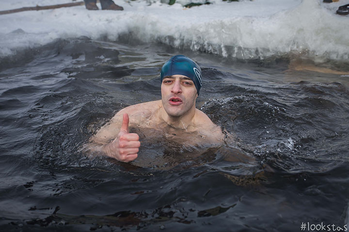 Cold swimmers in Novosibirsk