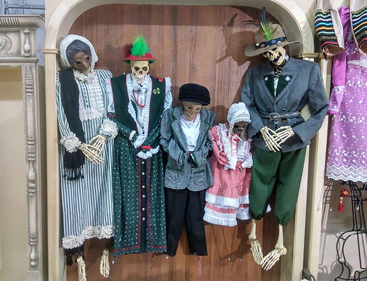 Novosibirsk Death Museum dresses up mummies and skeletons for a major 'Dance of Death' exhibition