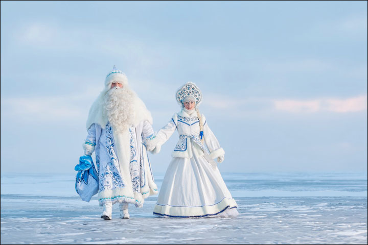 Father Frost on Baikal
