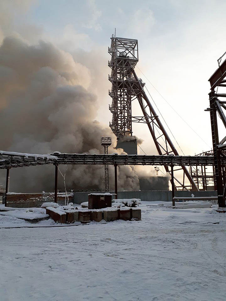 nine men trapped inside a mine in Solikamsk