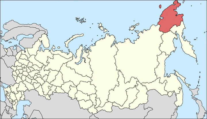 Chukotka on the map