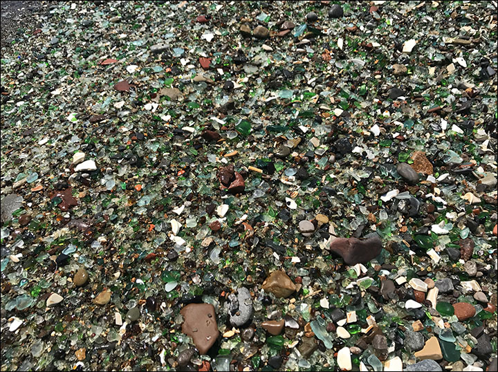 Glass beach Siberia