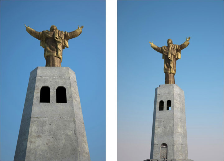 Jesus Christ statue in Vladivostok