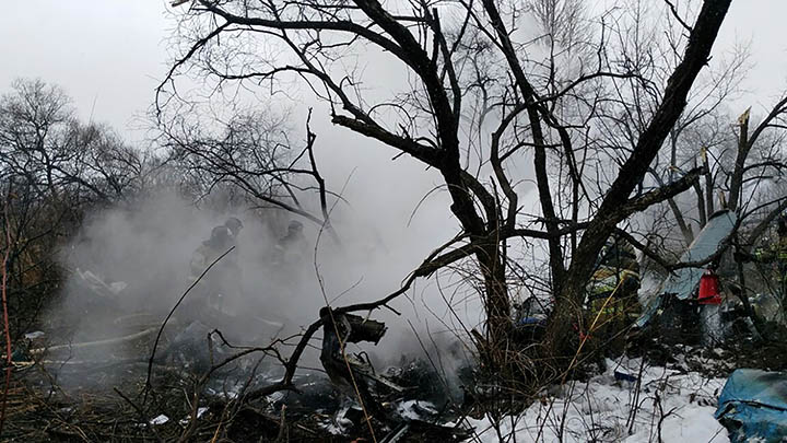 Russian helicopter crash kills 6 in far eastern city