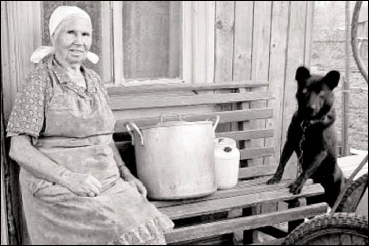 Klavdia with her dog