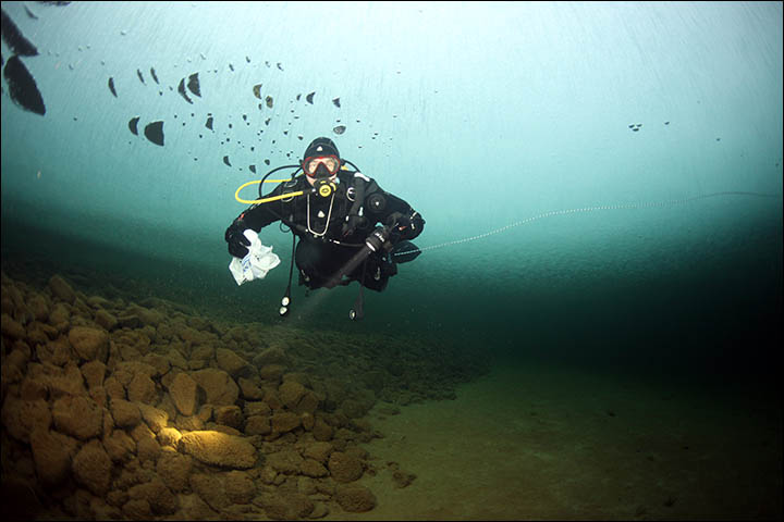 Meet the creature found by divers in Russia's Loch Ness, famed for legends of monsters
