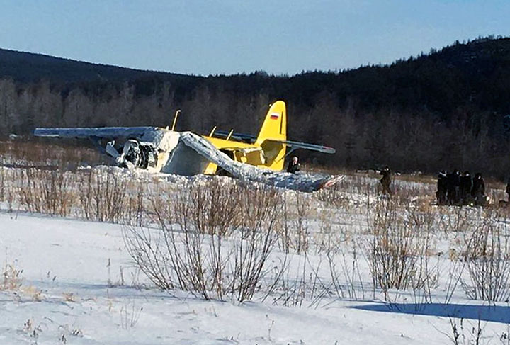 AN-2 plane with 14 people on board crash landed in Magadan seconds after take off
