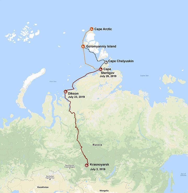 Plea for help from Russian Space agency as solo traveller and his faithful dog are lost in Arctic