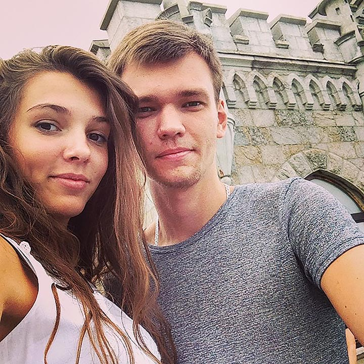 Maria Lebedeva with boyfriend