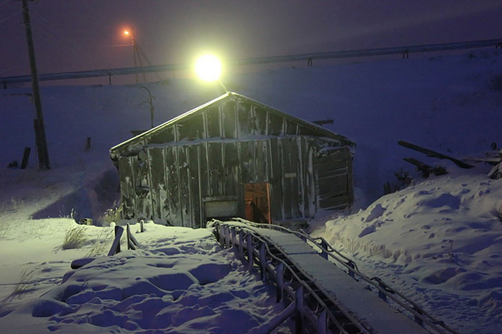 Inside the amazing permafrost ice tunnels built by exiled German genius in Cold War