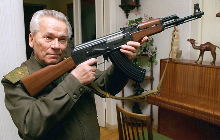Russian gun-maker and patriot, Mikhail Kalashnikov, designer of the AK-47, dies aged 94