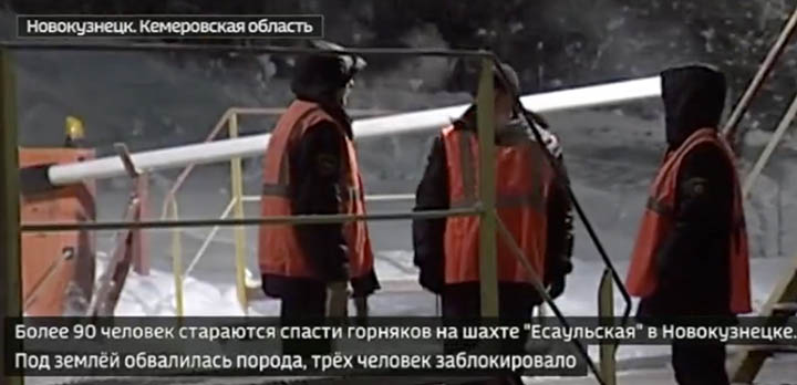 Desperate bid to free three miners trapped underground in Kemerovo region