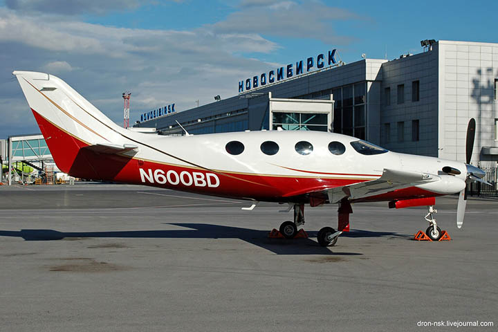 Filev's Epic plane pictured in Novosibirsk