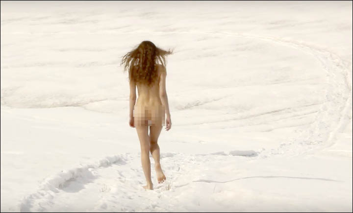 Naked protester' Liana Klevtsova challenges Siberia's fur farms in explicit video