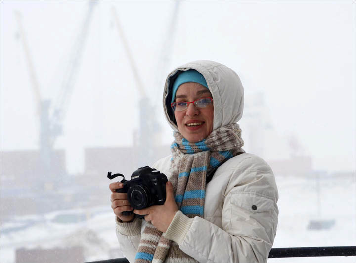 Nadezhda Rimskaya with camera