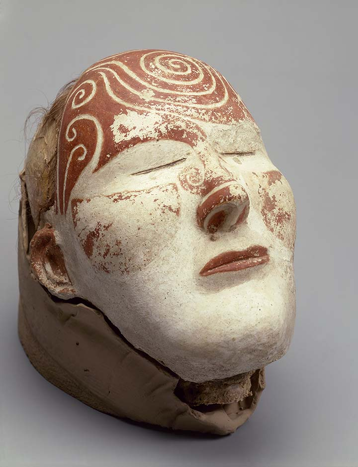 Female head with the mask