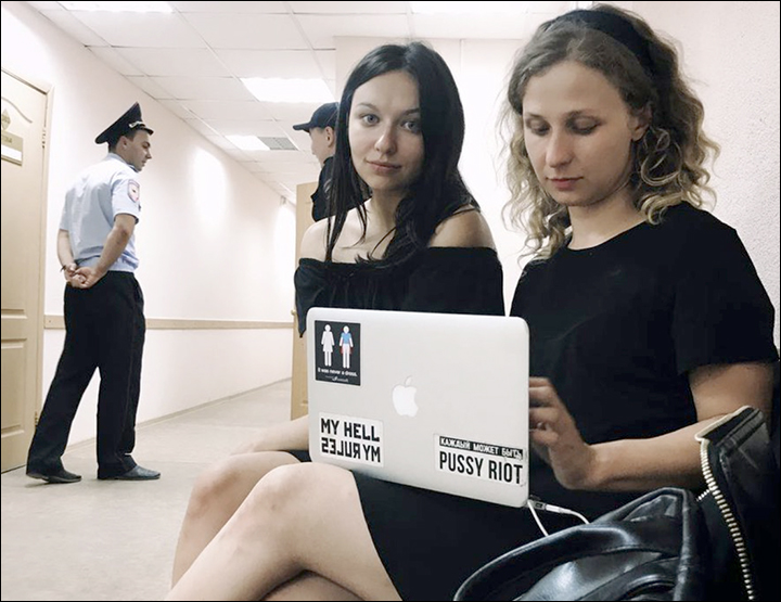 Pussy Riot political protest duo detained in Siberia