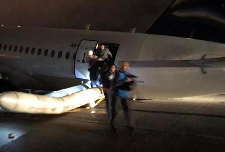 92 people evacuated after plane skids off a runway in Yakutia